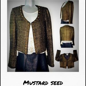 Mustard Seed blazer with golden spikes